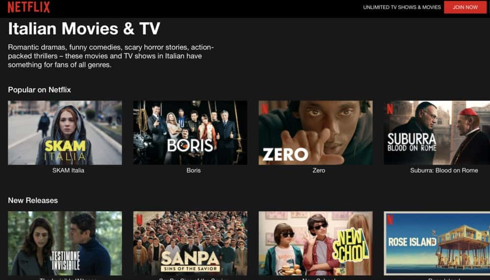 Italian movies on Netflix